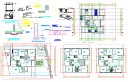 Luxurious Residential layout plan dwg file
