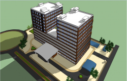 Luxurious and high rise building design dwg file