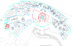 Luxurious hotel and resort layout plan dwg file