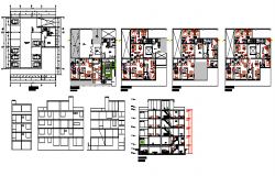 Luxurious multi family housing design drawing