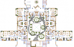 Luxurious residence Apartment Layout plan