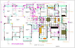 Luxurious residential housing plan, design plan layout of interior dwg file