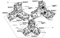 Luxury Apartment Floor Plan AutoCAD File