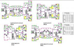 MASS HOUSING ARCHITECTURE PROJECTS IN CAD FILES