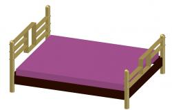 MS Material Bed Design With Rendered Drawing 3D MAX File