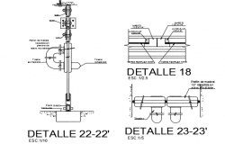 Machine core detail dwg file