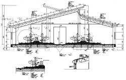 Machine room AutoCAD drawing
