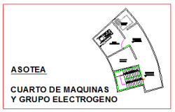 Machine room layout of corporate building design drawing
