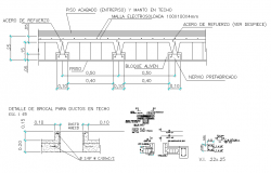 Machinery detail sectional detail,