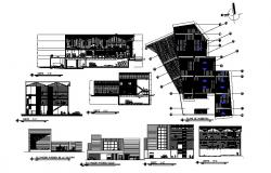 Madera elevation, section, floor plan and auto-cad details dwg file