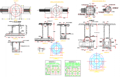 Mail box plan and section detail dwg file