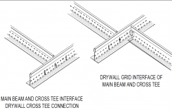 Main beam and cross tee detail dwg file