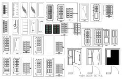 Main door detail elevation layout file