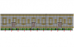 Main gate elevation detail dwg file