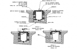 Main hole section detail dwg file