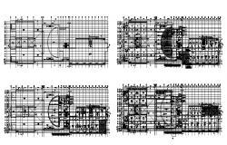 Mansarovar depo administrative building floor plan cad drawing details dwg file