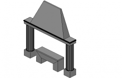 Mantelpiece front elevation 3d