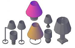 Many Types Of Table Lamps Design In 3D MAX File
