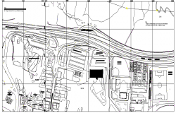 Map Details of Road Elevation dwg file