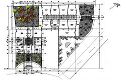 Market plan detail autocad file