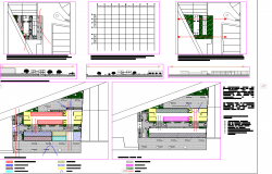 Market wood supply plan detail dwg file
