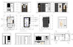 Master Bathroom Design Plan Download CAD Drawing