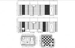 Master Bathroom Floor Plans AutoCAD Drawing