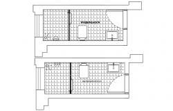 Master Bathroom Flooring Plan CAD Drawing