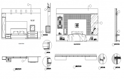 Master bedroom elevation dwg file