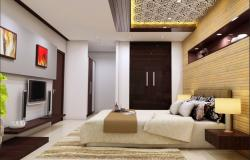 Master bedroom interior design 3d drawing details dwg file