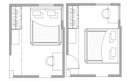 Master bedroom layout in dwg file