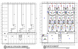 Material use house building plan detail dwg file