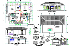 Maternity Care Center Elevation, Section and Structure Details dwg file