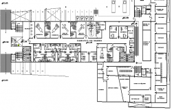 Maternity Clinic Furnished Structure Details dwg file