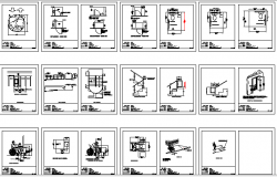 Measures for Disabled Persons Architecture Design dwg file