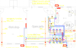 Mechanical Feedmill Factory Service Building dwg file