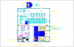 Mechanical design view of air generate unit dwg file