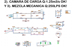Mechanical mixture plan and section detail dwg file