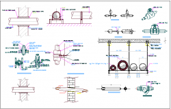 Mechanical parts and machine, shaft detail view dwg file