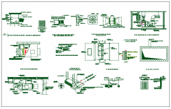 Mechanical units & electrical components connection section view dwg file