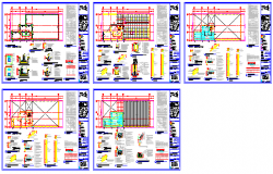 Mechanical workshop structural design drawing