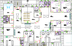 Medical Center Architecture Design and Structure Details dgw file