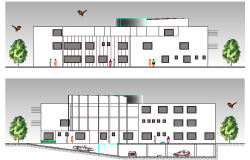 Medical Center Design and Elevation dwg file