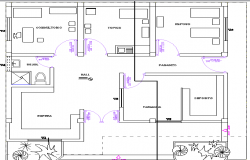 Medical Center Design and Section Details dwg file
