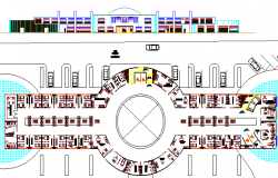 Medical College Design and Elevation and Section Details dwg file