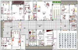 Medical Health Center Architecture Design and Structure dwg file