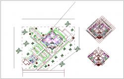 Medical center Floor plan of medical center dwg file