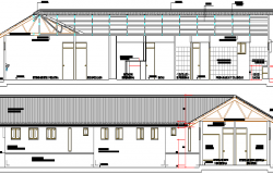 Medical hospital Elevation and Structure Design dwg file