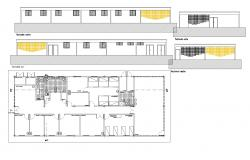 Medical unitary plan and elevation autocad file