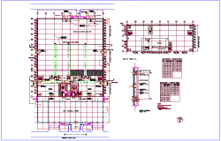 Medicine production corporate building plan with door-window and construction detail dwg file